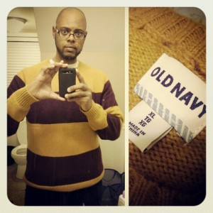 Took advantage of the #BlackFriday sales. Was able to pick from off the racks in a size that I hadn't worn since 1989. 37 pounds to go. Down from a 4x to a XL in 5 months.#weightloss #Medifast #exercise  #oldnavy