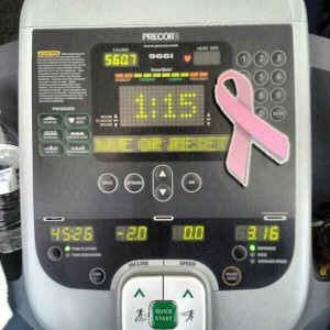 So today I extended my #cardio workout to support my frat brother @attorneyreid who is doing 3.1 miles a day in support of the 31 days of #BreastCancer Awareness Month. It is an issue that he is all to familiar with. After several years of battling cancer @attorneyreid lost his mom several months. Take time out today to celebrate the lives of those who have been lost and the who continue to fight. #pinkribbon #cancer