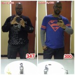 Before & After (As of October 11, 2012) #weightloss #medifast #determination #exercise