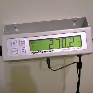 Official #Medifast Weigh-in: 270 as of 2/1/13. #Weightloss #TheFinal30 20 more pounds to go. #exercise