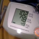 Blood pressure is down.