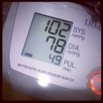One of my best blood pressure readings of all time.  #health #bloodpressure #diet #exercise