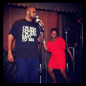 Loved #Karaoke on the ship. I even had my own backup dancer. #graphictee